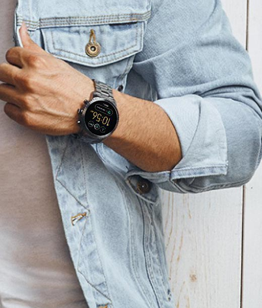Fossil FTW4001 Watches For Men in Chennai Online Wrist in Hand View with Men Model